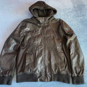 Black Leather Guess Jacket